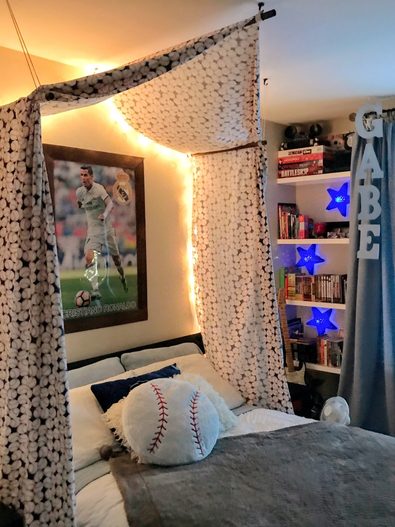 Diy Baseball Bed Canopy The Craine S Nest
